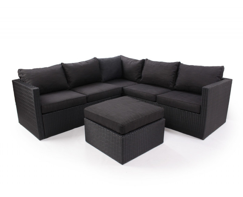 melina sofasæt i klassisk sort